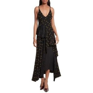Rachel Comey Catch Crepe Lash Maxi Dress 0